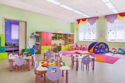 empty childcare classroom